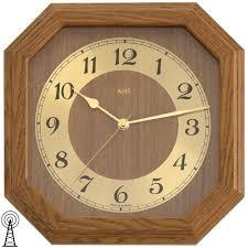 Wohnzimmer Uhren Wanduhr Ams Funk Wanduhr Eiche Dunkel ッ Wanduhren ッ Juwelier Shop24 Com
