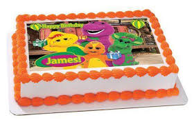 barney birthday cake barney and friends edible cake and cupcake topper edible prints on