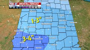 Snow Forecast Map Snow Likely During Wednesday Morning U0027s Commute 1 3 Inches