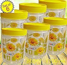 buy saaz air tight set of six multipurpose flora priented kitchen