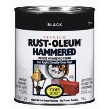 rust oleum stops rust hammered paint in black 7215 502 exterior