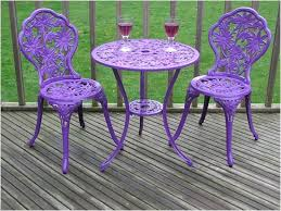 Cast Aluminium Outdoor Furniture by Gloss Purple Cast Aluminium Garden Furniture Bistro Set From Www