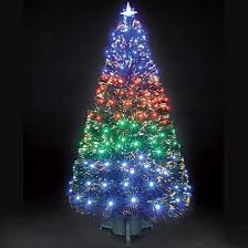 fiber optics tree decor