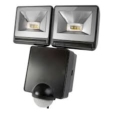 security lights led timeguard led twin floodlight with pir sensor twin spot led outdoor security floodlight