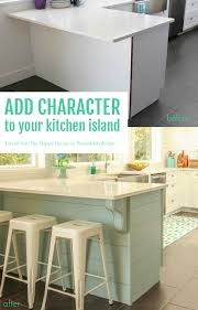 Putting Trim On Cabinets by Remodelaholic Update A Plain Kitchen Island Or Peninsula With