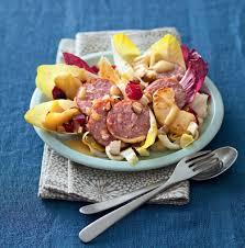 2 recette cuisine recette salade aux 2 endives morteau et pommes