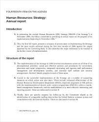 hr management report template strategic management report template 4 professional and high