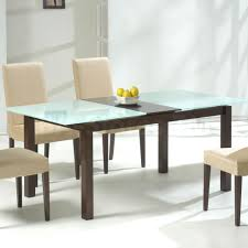 small glass dining tables chrome glass dining table modern glass