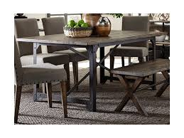 Liberty Furniture Dining Table by Liberty Furniture Caldwell Industrial Trestle Dining Table With