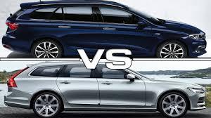 volvo wagon 2017 fiat tipo station wagon vs 2017 volvo v90 youtube