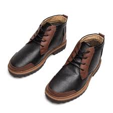 Comfortable Brown Boots Fashion Casual Shoes Men Winter Mens Classic Leather Shoes