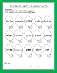 christmas worksheets verbs 13 best images of adjective coloring