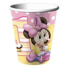minnie mouse 1st birthday minnie mouse 1st birthday cups 8 at dollar carousel