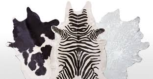 Zebra Print Throw Rug Cow Skin Rug Light Brindle Brazilian Cowhide Rug Cow Hide Skin