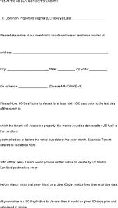 Terminate Lease Letter 60 Day Notice Template Virtren Com