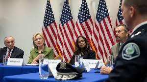 between police and black lives matter hillary clinton walking a