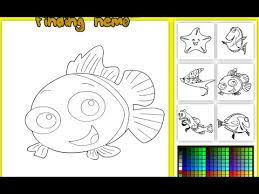 finding nemo coloring pages finding nemo colouring pictures game
