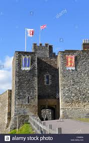 dover castle the great tower entrance dover castle kent england uk gb stock