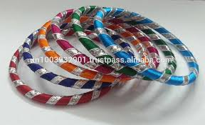 color bangle bracelet images New red color silk thread bangle chain wrap design india 5,0&a