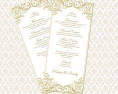 instant download wedding menu template forever design by 43lucy