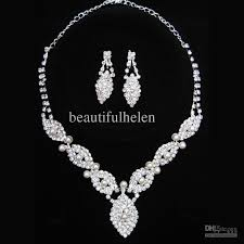 wedding earring necklace set images Bridal jewelry sets artificial diamond bridal jewellery hot jpg