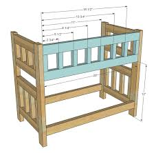 Free Loft Bed Woodworking Plans by Best 25 Doll Bunk Beds Ideas On Pinterest American Beds
