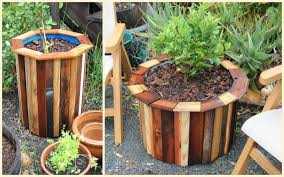 Half Barrel Planters by Diy Plastic Barrel Planter