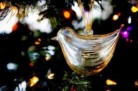 dooce glass bird ornament
