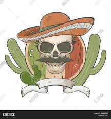 cartoon sombrero vintage mexican skull sombrero vector u0026 photo bigstock