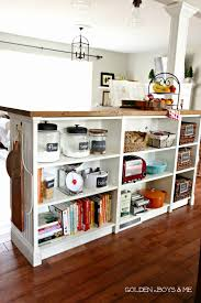kitchen island with shelves bookshelves turned kitchen island ikea hack more details
