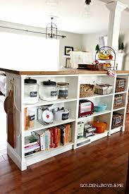 homemade kitchen island bookshelves turned kitchen island ikea hack more details