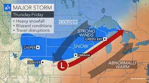 Upper Midwest Map Late Week Blizzard May Unfold Across Central Us Midwest