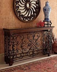 Wrought Iron Console Table Iron Wood Console Table Foter
