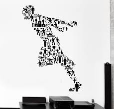 fitness vinyl wall decal sport running jogging runner football fitness vinyl wall decal sport running jogging runner football activity mural art wall sticker bedroom gym home decoration in wall stickers from home
