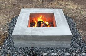 Concrete Fire Pit by How To Build A Modern Concrete Fire Pit