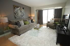 awesome small condo living room design with nice white rugs