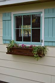 Wooden Window Flower Boxes - get ready for spring with window boxes