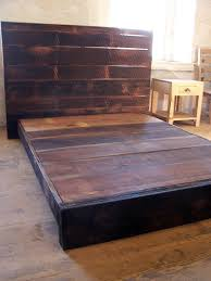 Reclaimed Platform Bed - buy a hand made asian style low platform bed from reclaimed wood