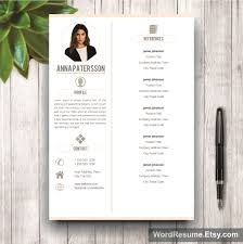 Instant Resume Template 4 Pages Resume Template Instant Digital Download U2013 U201canna Patterson U201d