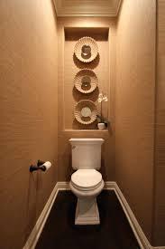 wall ideas powder room toilet wallpaper mirror niche wall niche