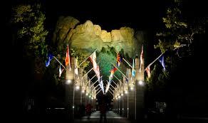 mount rushmore evening lighting ceremony rapid city sd