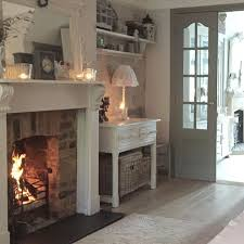 Shabby Chic Fireplace by Best 25 Cottage Fireplace Ideas On Pinterest Living Room Fire