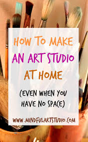 12 ways to make an art studio at home