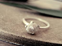 natural diamond rings images White grey diamond ring raw diamond ring promise ring jpg