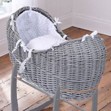 clair de lune white dimple grey wicker baby moses basket noah
