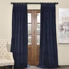 dark teal velvet curtains wayfair