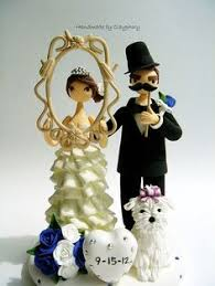 wedding cake topper figurines dog and cat cake toppers with