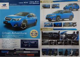 subaru xv interior 2016 subaru xv facelift unveiled japanese brochure leaked