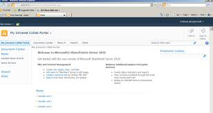sharepoint template question revealed u2013 where is the intranet