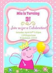 peppa pig personalised party invitations x 10 birthday invites